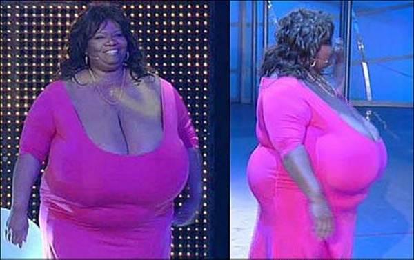 Темнокожая порнозвезда норма обладательница самого большого в мире бюста